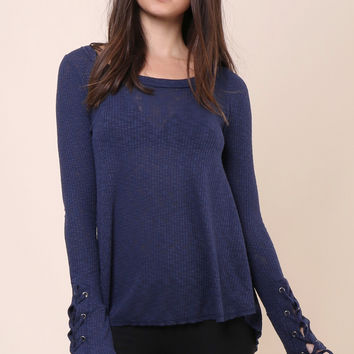 Fox + Hawk Laney Top - Blue