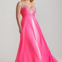 Night Moves 6788W Hot Pink Plus Size Dress