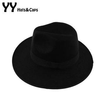 Soft Vintage Wide Brim Wool Felt Hat