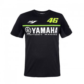 2017 Valentino Rossi VR46 Racing Black Moto GP Men's for Yamaha T-Shirt Motorcycle Sports Tee