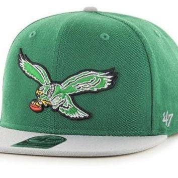 Philadelphia Eagles Super Shot Two Tone Captain Strapback Hat By '47 Brand