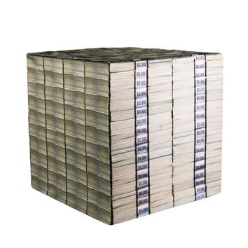 Money Stack Wooden Cube Cover Photography Prop - CUBE6