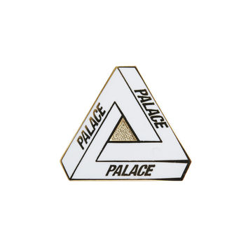 Tri-Ferg Pin Badge White | Palace Skateboards
