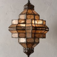 Bashira Lantern, Spindle by Anthropologie in Neutral Size: One Size Lighting