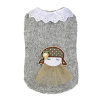 Dog Clothes Pet Puppy Little Girl With Sweater Charm Apparel chihuahua products for dogs Winter Warm Pet Dog Clothes Vest