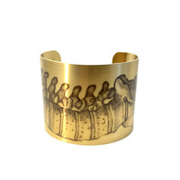 Spine Art, Brass Cuff Bracelet, Anatomy Jewellery, Illustration Print, Anatomy Print, Fashion Jewelry