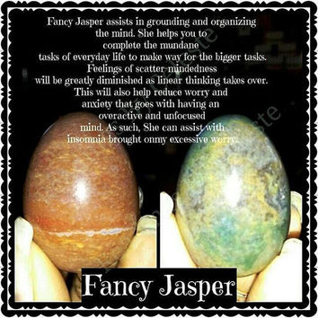 Fancy Jasper Yoni Egg  Medium (45mmx33mm) And NON-drilled