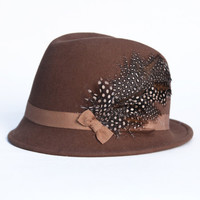 ashton feather fedora - $58.99 : ShopRuche.com, Vintage Inspired Clothing, Affordable Clothes, Eco friendly Fashion