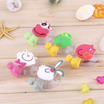 cute Cartoon sucker toothbrush holder suction hooks bathroom set accessories Eco-Friendly Worldwide Store