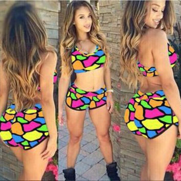 Swimsuit Hot Beach New Arrival Summer Sexy Print Swimwear Bottom & Top Bikini [6532851463]