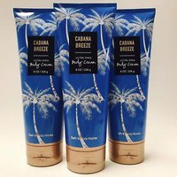 3 PACK Bath & Body Works CABANA BREEZE Ultra Shea Body Cream 8 oz
