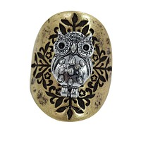 Bohemian Forest Owl Fashion Ring