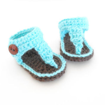 Crochet Pattern For Baby Seaside Gladiator Sandals