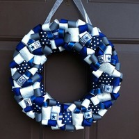 Dallas Cowboys Wreath Ribbon for front door NFL