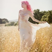 Bohemian Blush Feathers Wedding Gown-Must Have Been the Roses