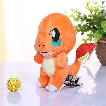 2016 Latest Pokemon Standing Charmander 17cm Plush Toy Stuffed Animal Fire Dragon Doll Kawaii Kids Toys For Children Dolls