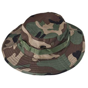 Hiking Cap Bucket Hat Hunting Fishing Outdoor Wide Cap Military Unisex