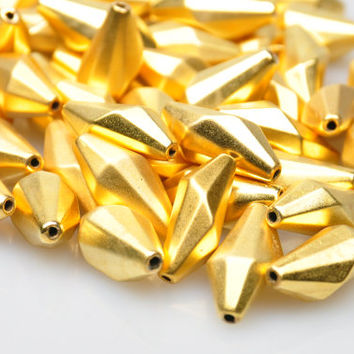 5 Pieces Gold Plated Spacer Beads, Jewelry Findings, Jewelry Making Supply