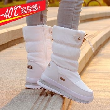 The New 2017 Children Cotton Boots Antiskid Warm Winter Boots Girls In The Cylinder with Thick Snow Shoes Boy's Shoes
