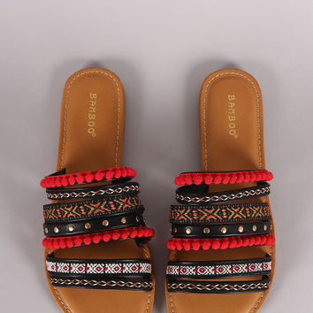 Bamboo Festive Embroidered Straps Sandal