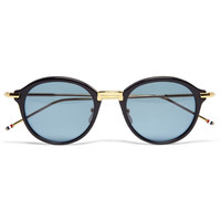 Thom Browne Gold and Acetate Round-Frame Sunglasses | MR PORTER