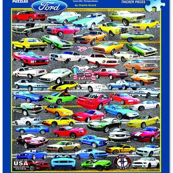FORD 50 YEARS OF MUSTANGS - 550 Piece Jigsaw Puzzle