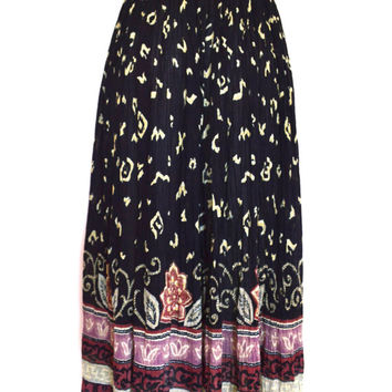 90's Indian Cotton Maxi Skirt size - S/M