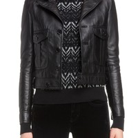 Saint Laurent Lambskin Leather Jacket | Nordstrom