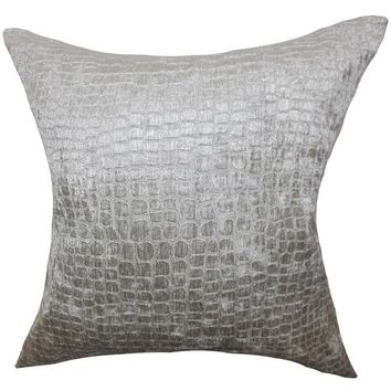 Fiachra Solid Floor Pillow Silver | Overstock.com Shopping - The Best Deals on Throw Pillows