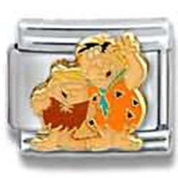 THE FLINSTONES Fred and Barney Officially Licensed Italian Charm