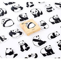 40 Panda paper sticker panda label panda seal sticker cute animal panda theme paper gift panda decor print National treasure Mascot gift