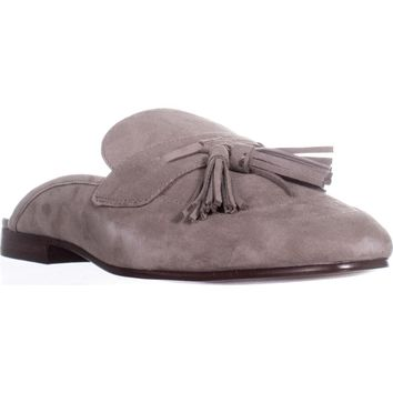 Sam Edelman Paris Backless Tassel Loafers, Putty, 8.5 US / 38.5 EU