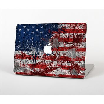 "The Grungy American Flag Skin Set for the Apple MacBook Pro 15"" with Retina Display"
