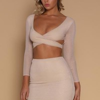 Lauretta Mini Skirt - Champagne