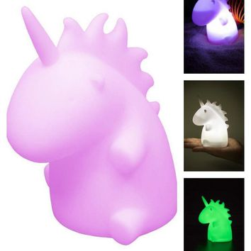 Mini Unicorn LED Kids Night Light Glow Lamp