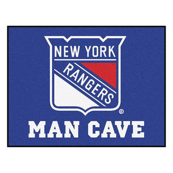 New York Rangers NHL Man Cave All-Star Floor Mat (34in x 45in)
