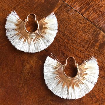 Bold Decision Earrings, Ivory