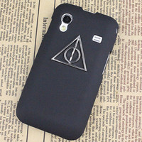 Black Hard Case Cover With Deathly Hallows Harry Potter For Samsung Galaxy Ace S5830