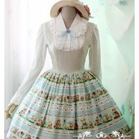 White Moon Forest Music College Style Lolita JSK Dress 2 Colors $69.99-Cotton Lolita Dresses - My Lolita Dress