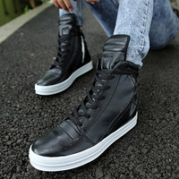 Cool Men Casual Leather Boots Shoes