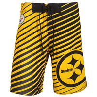 Pittsburgh Steelers Official NFL Stripes Boardshorts