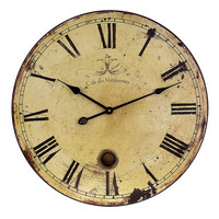 "Traditional Oversized 23"" Antique Mechanical Wall Clock"