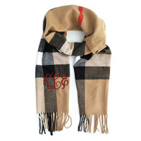 Monogrammed Soft Knit Scarf - 10 styles
