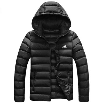 ADIDAS autumn and winter men's sports and leisure outdoor down jacket black