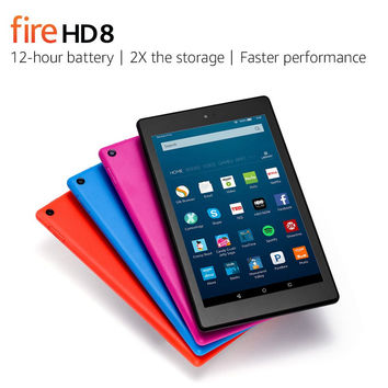 "Fire HD 8 Tablet with Alexa 8"" HD Display 32 GB Tangerine - with Special Offers"