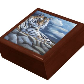 Keepsake/Jewelry Box - Bengal Tiger- Lacquer Box
