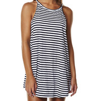 ISLA COLLECTIVE SCOOP DRESS - NAVY STRIPE