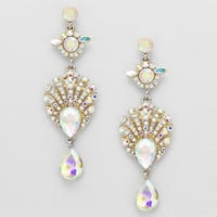 Seashell Rhinestone Earrings