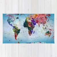 map Rug by Mark Ashkenazi