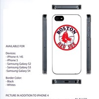 Boston red sox Logo Case For iPhone 4/4S iPhone 5 Galaxy S2/S3/S4